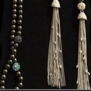 Alexis Bittar Crystal Pearl Sautoir Rope Necklace